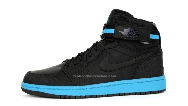 Air Jordan 1 High Strap Black/Orion Blue