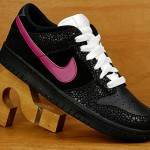 Nike Dunk Low Black Pink Safari Print