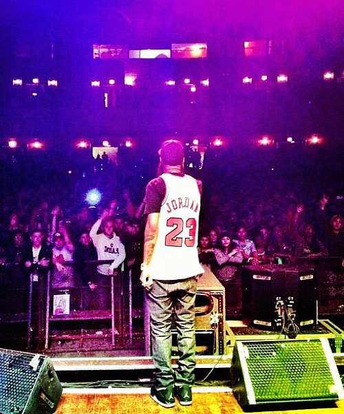 Stalley in the Air Jordan 4 Black/Red
