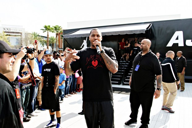 Carmelo Anthony At Footaction and Jordan Flight Lab