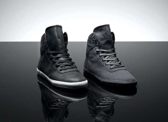 Supra Cuttler Black Leather + Grey Canvas