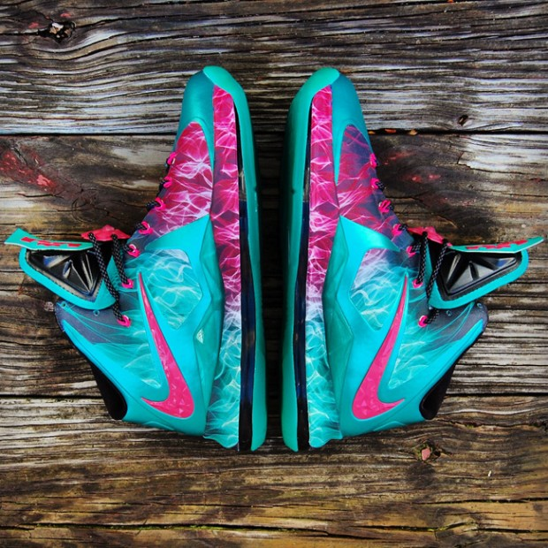Nike LeBron X Zombie in South Beach Custom