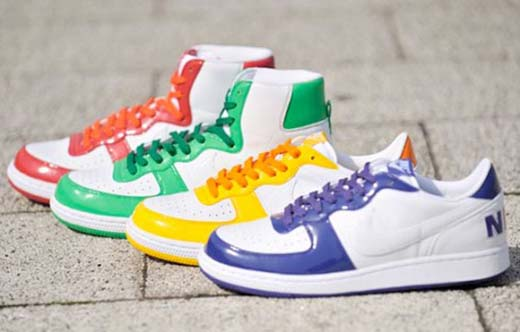 "A new set of Nike Terminator ""Play Hard"" high tops and low tops has been"
