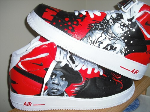 Lil Wayne Nike Shoes. Lil Wayne Air Force Ones.