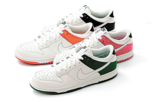 Nike Dunk Low White Pine Green, Orange Blaze, Vivid Pink & Obsidian